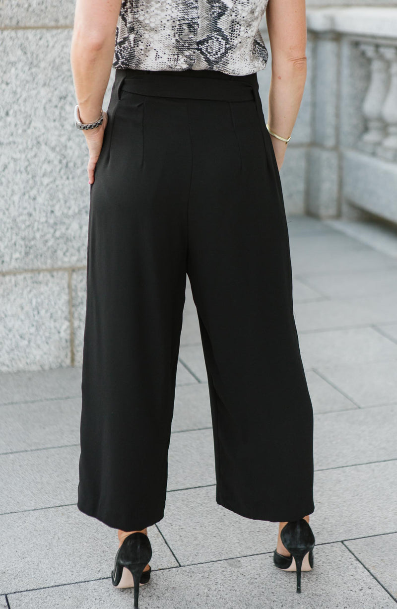 Paperbag Black Crop Pant Trinity Clothing