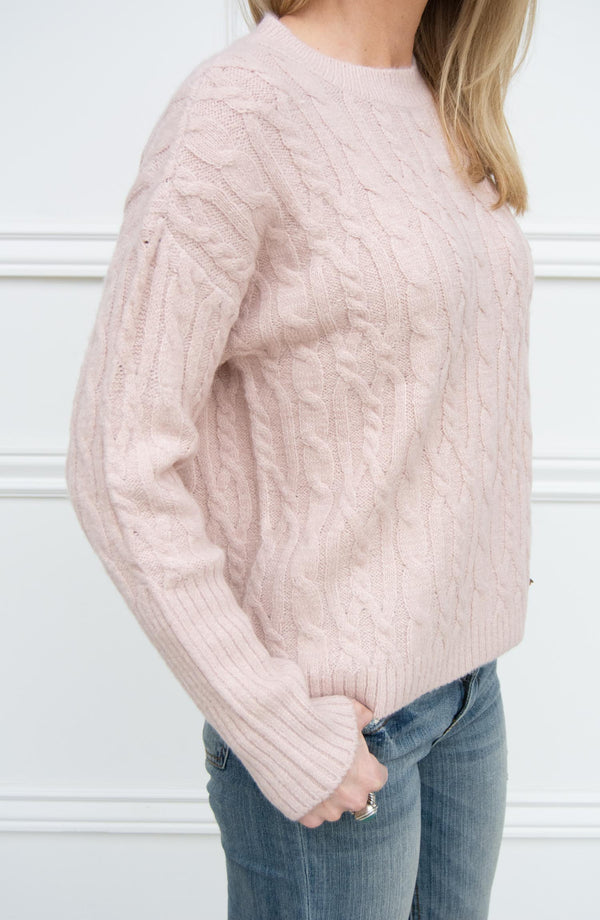 Pinkie Cloud Cable Knit Sweater
