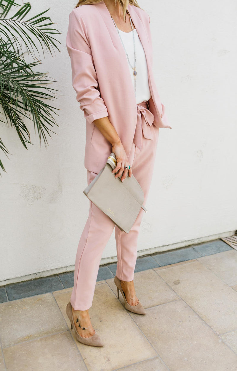 Ruched Sleeve Boyfriend Blazer