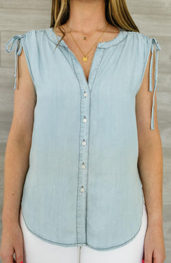 Short Stop Chambray Tank Trinity Clothing