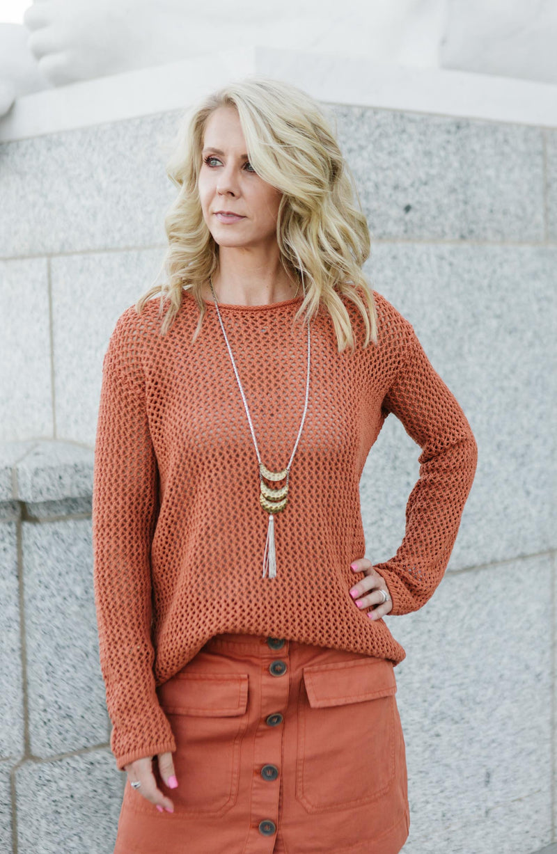 Soledad Open Knit Sweater Trinity Clothing