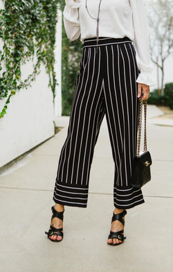 Skip The Lines Cropped Trouser