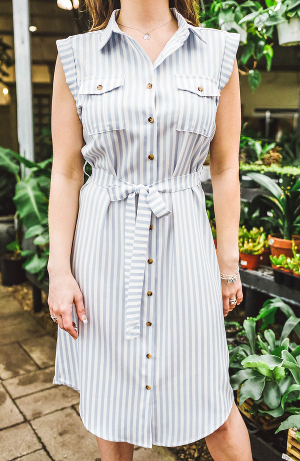 Striped Shirt Dress Trinity Clothing