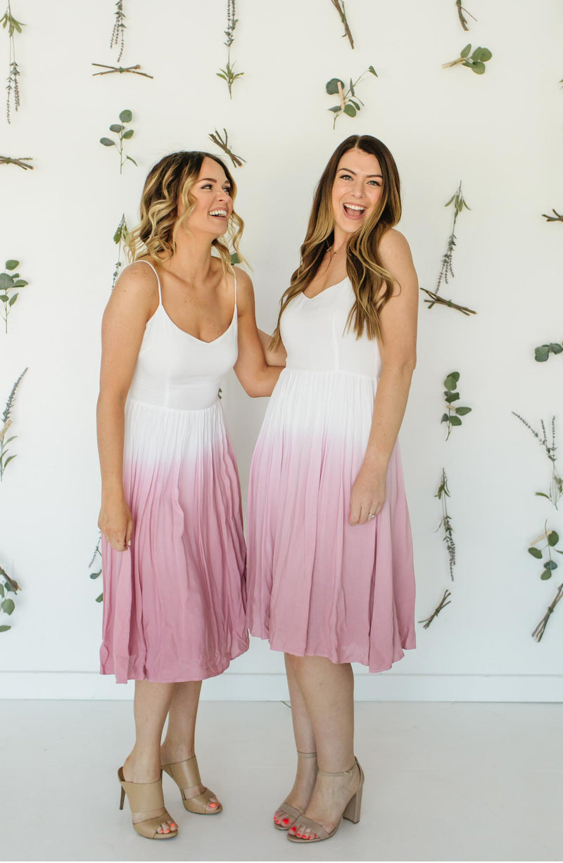 Pink Sunset Bridesmaid Maxi Dress Trinity Clothing