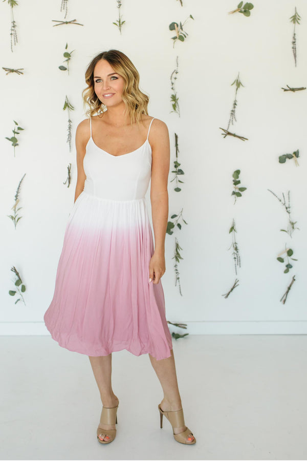 Pink Sunset Maxi Dress Trinity Clothing
