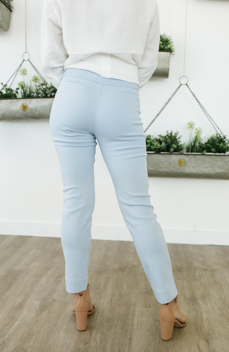 Tate Low Rise Ankle Trouser Light Blue Trinity Clothing