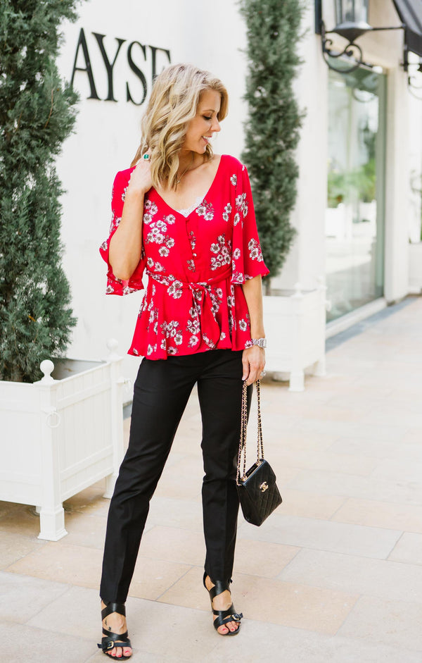 Tipton Wrap Blouse