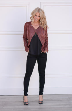 Trent Faux Leather Jacket