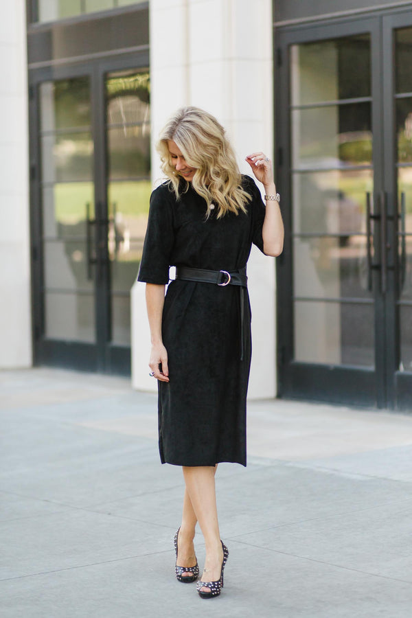 The Tristen Faux Suede Dress