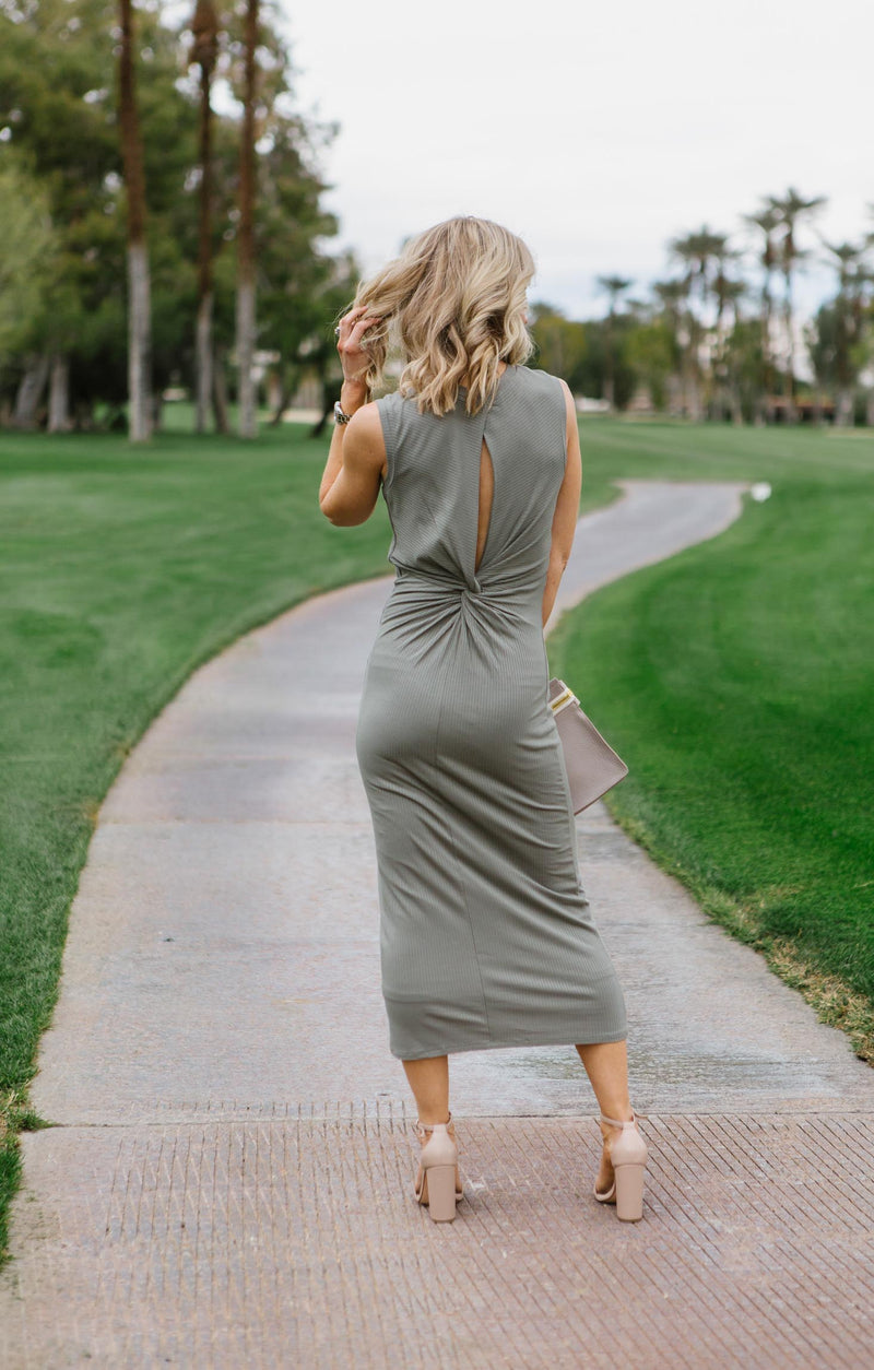 Lyla Twist Back Knit Dress