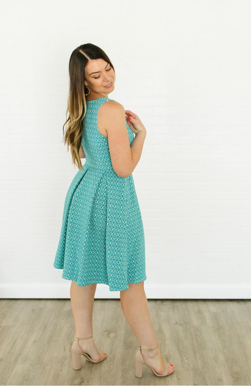 Leota Anita Fit-and-Flare Dress Trinity Clothing