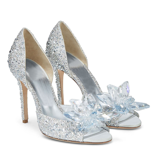 Women's shoes-Crystal High Heels White Drill Rhinestone Crystal Shoes