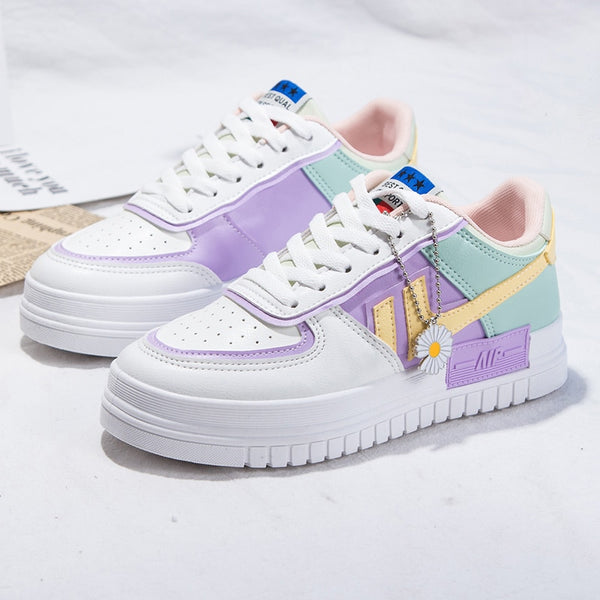 2020 Summer Women Sneakers  Platform Flats Casual Ladies Vulcanize Shoes