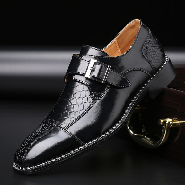 Crocodile Pattern Genuine Leatherr Dress Shoes Men Shoes for Business Casual