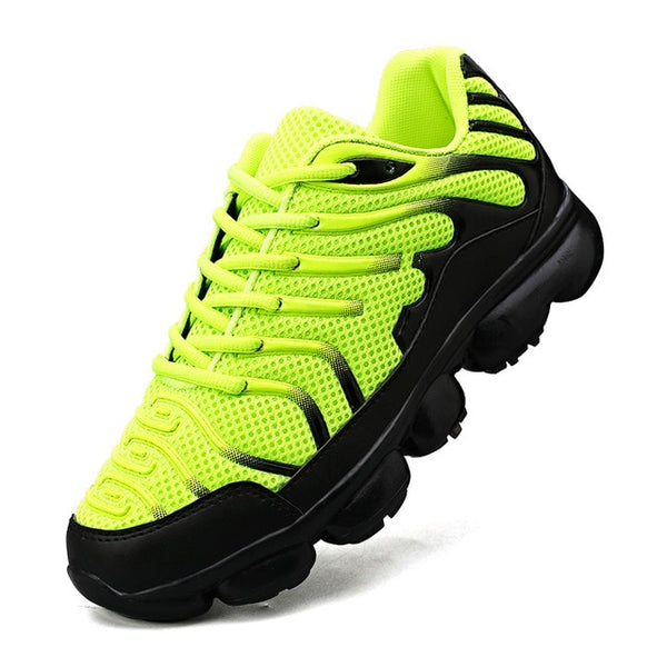 New running shoes men's air cushion sports outdoor red jogging
