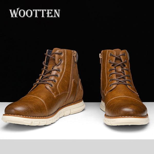 men's casual shoes handsome comfortable autumn Retro leather boots