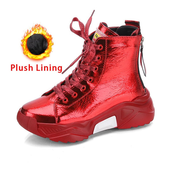 2021 Fashion Ladies Zipper Casual Sneakers Waterproof Shoes