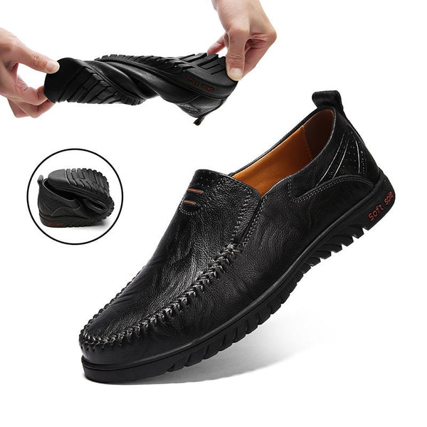 Luxury Men's Cow Leather Casual Loafers