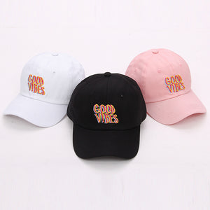 Wavy Good Vibes Dad Hat Embroidered Baseball Cap - GVO101