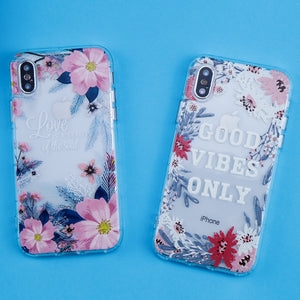 iPhone Flowers Good Vibes Only Phone Case - GVO101