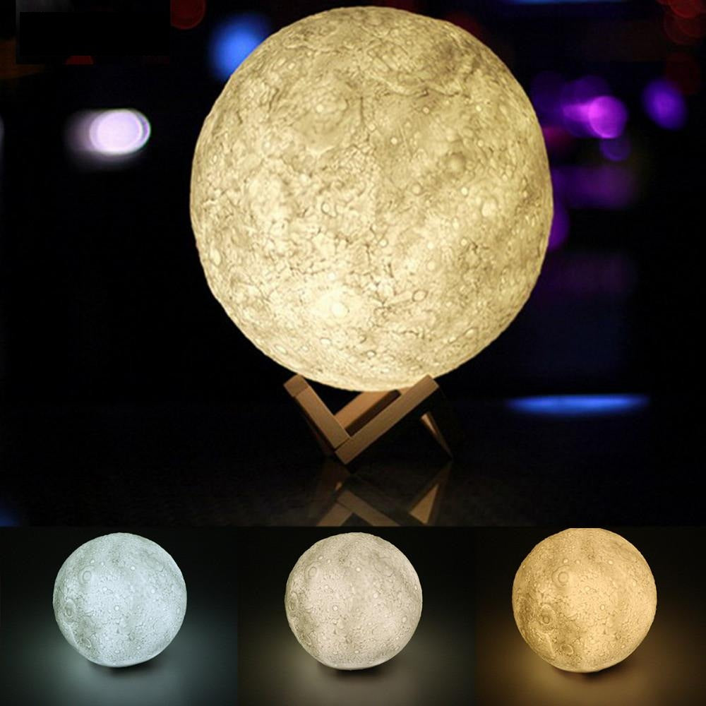 3D Magical Moon LED Night Light Desk Lamp – AOAGifts.com