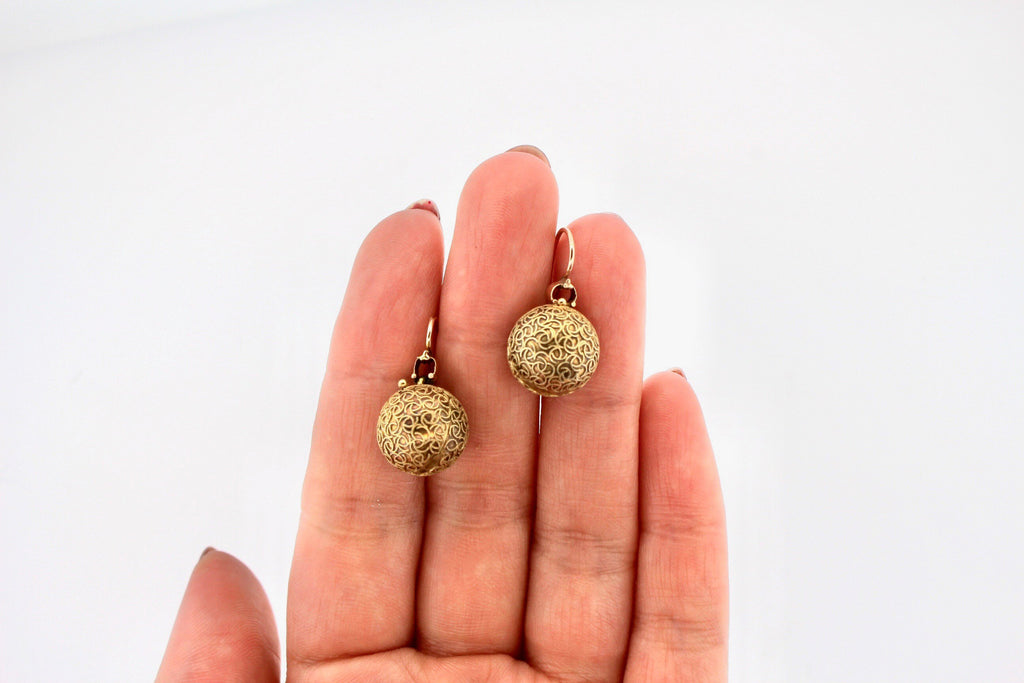 Victorian Diamond Drop Earrings with Original Antique Coach Covers
