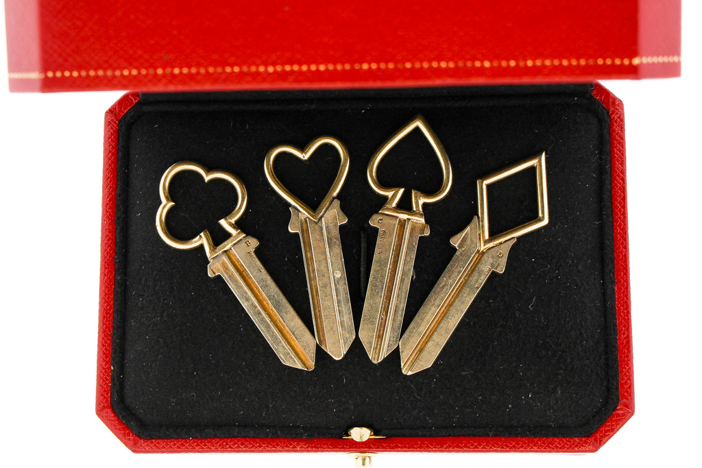 Vintage Cartier Set of Keys With Players Card Motif