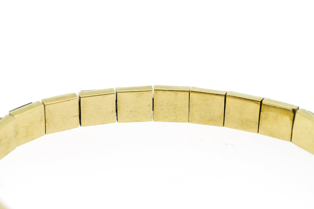 Vintage 14k Yellow Gold Square Cut Onyx Bracelet