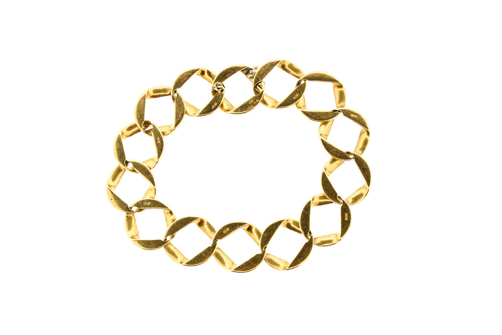 Cartier London 18k Yellow Gold Wide Curb Link Bracelet