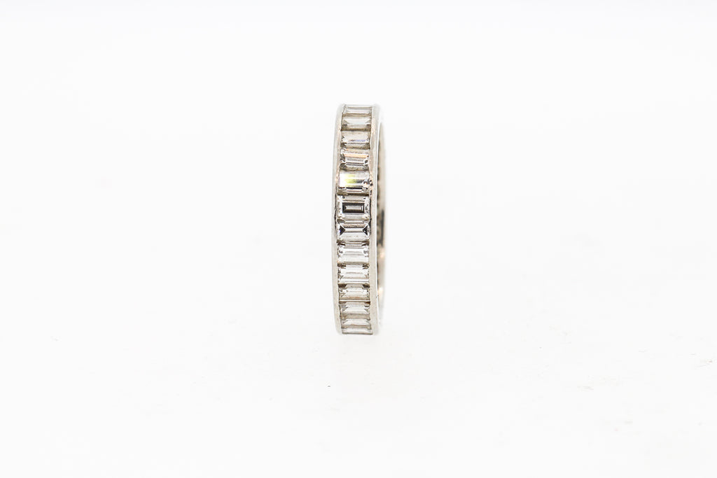 Vintage Van Cleef & Arpels Platinum Baguette Diamond Wedding Band