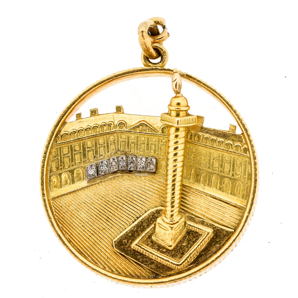 Mid-Century 18 Gold Place Vendome Charm or Pendant by Van Cleef & Arpels