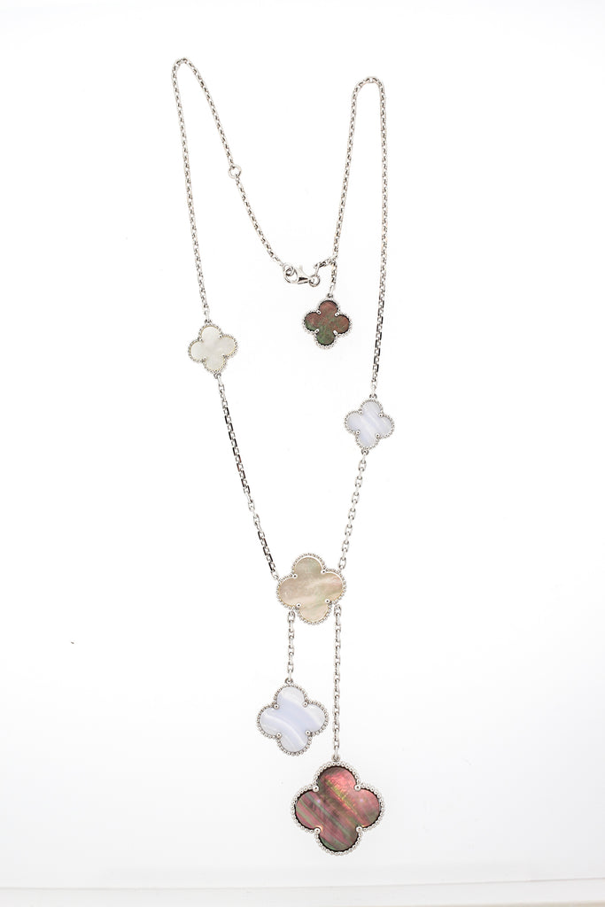 Van Cleef & Arpels Chalcedony Mother of Pearl Magic Alhambra Necklace