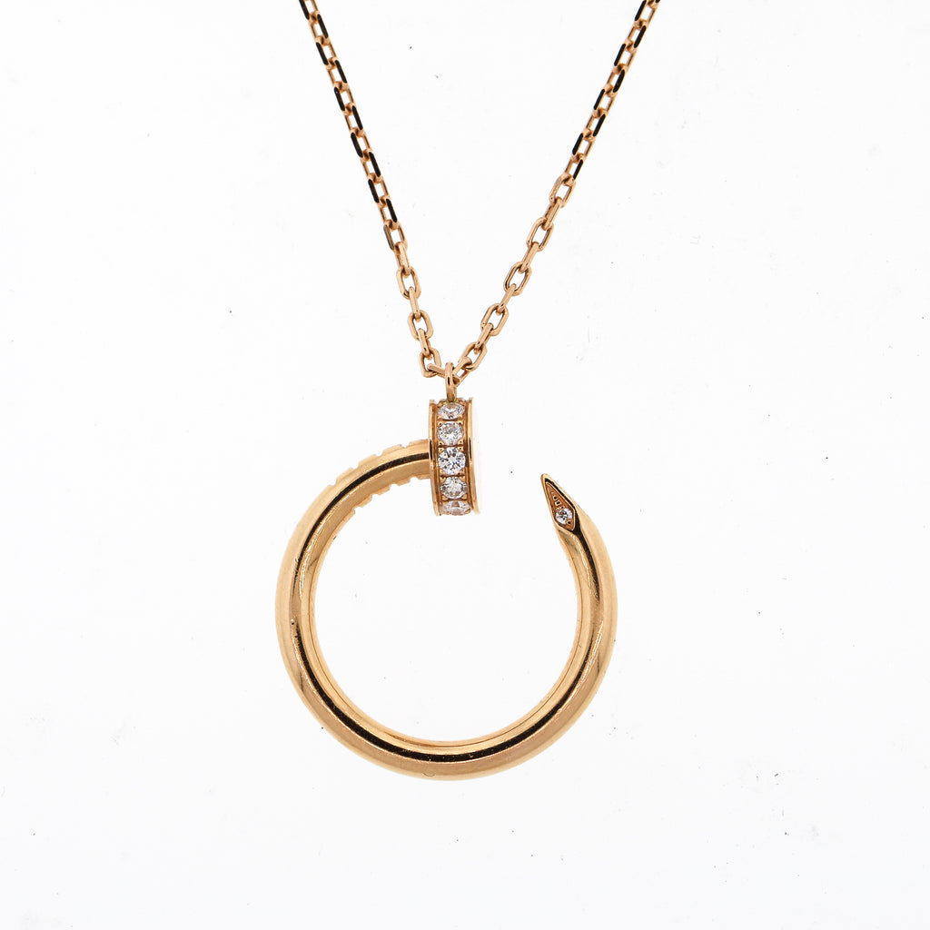 Cartier Pink Gold Juste En Clou Necklace