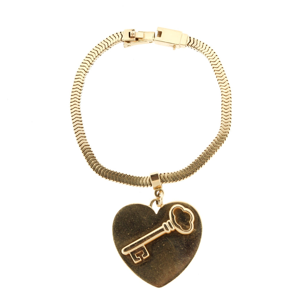 Vintage 14k Yellow Gold Key To My Heart Bracelet by Tiffany & Co.