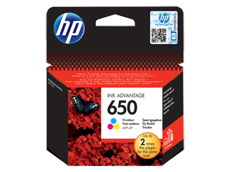 HP 650 Tri-color Original Ink Advantage Cartridge (CZ102AE)