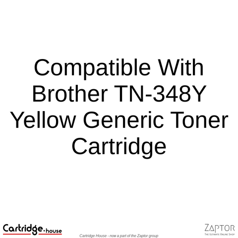 Compatible With Brother TN-348Y Yellow Toner Cartridge