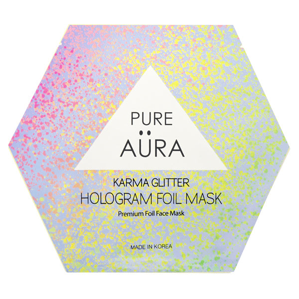 Karma Glitter Foil Facial Face Sheet Mask Two Pieces (top & bottom) for perfect fit - PERK  (Patented # 30-0998617-00-00)