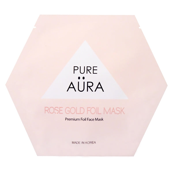 Rose Gold Metallic Foil Facial Face Sheet Mask Two Pieces (top & bottom) for perfect fit - CALM  (Patented # 30-0998617-00-00)