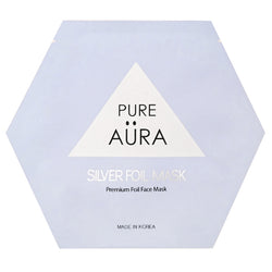 Silver Metallic Foil Facial Face Sheet Mask Two Pieces (top & bottom) for perfect fit  - CURE  (Patented # 30-0998617-00-00)