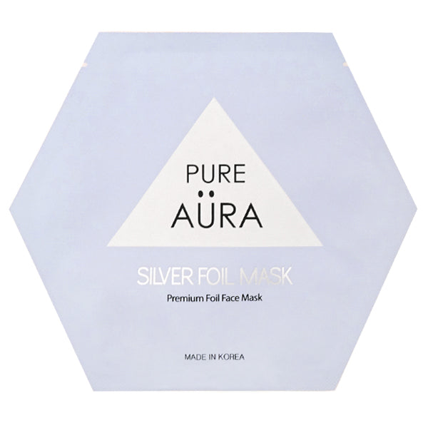 Silver Metallic Foil Mask - CURE  (Patented # 30-0998617-00-00)