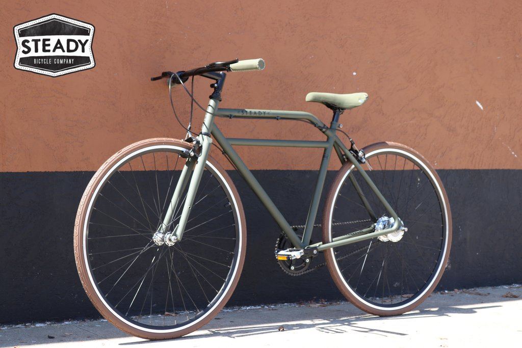 Steady Bikes, Bicycles and Cycles Espresso Racer Street Fixed Gear Fixie Style Commuter Urban Bicycle Company Racer Track