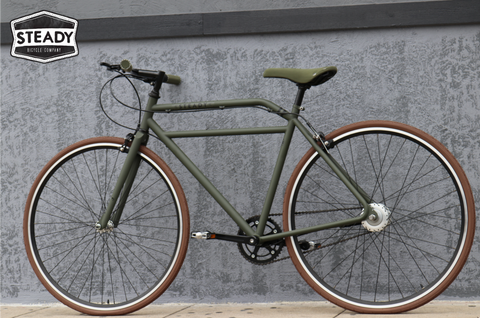 Steady Bicycle Company Espresso Racer Street Urban City Commuter Mod British Style Bike Cycle Fixed Gear Style but Quality