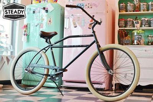 Steady Beach Cruiser Retro, Classic, Rockabilly Vintage Bike Cycle Bicycle