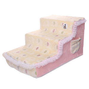Elegant Princess Lace Dog Beds Stairs