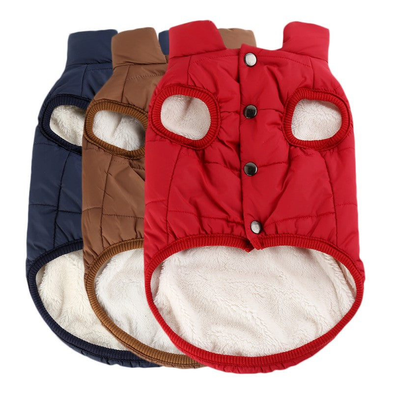 Windproof Dog Jacket With Plush Lining