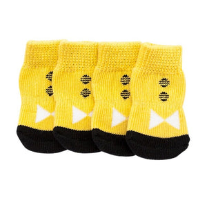 4 Piece Set Love Heart Dog Socks