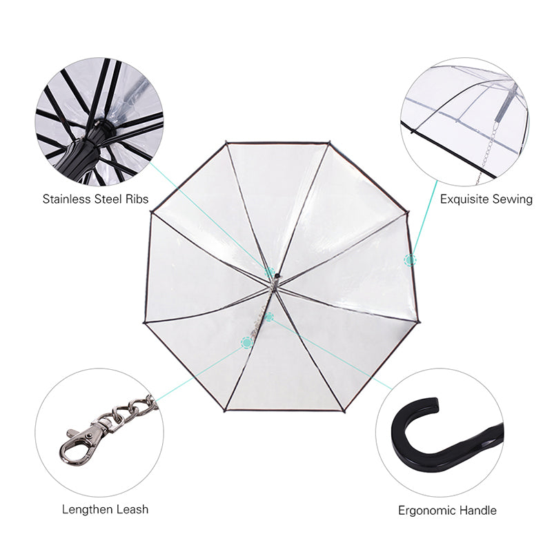 Dog Umbrella With Leash/Lead