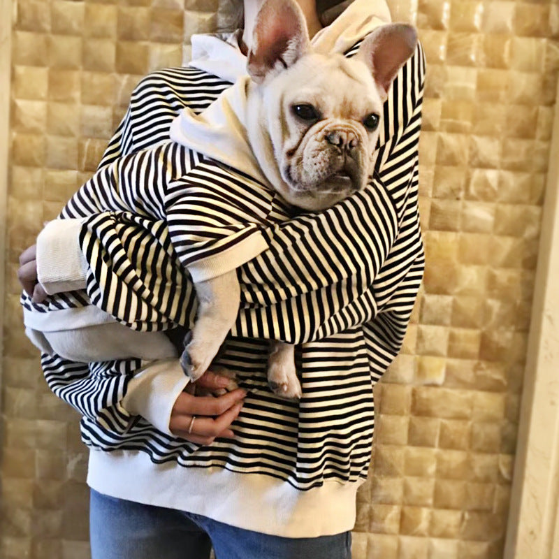 Stripped Hooded Pooch Matching Set