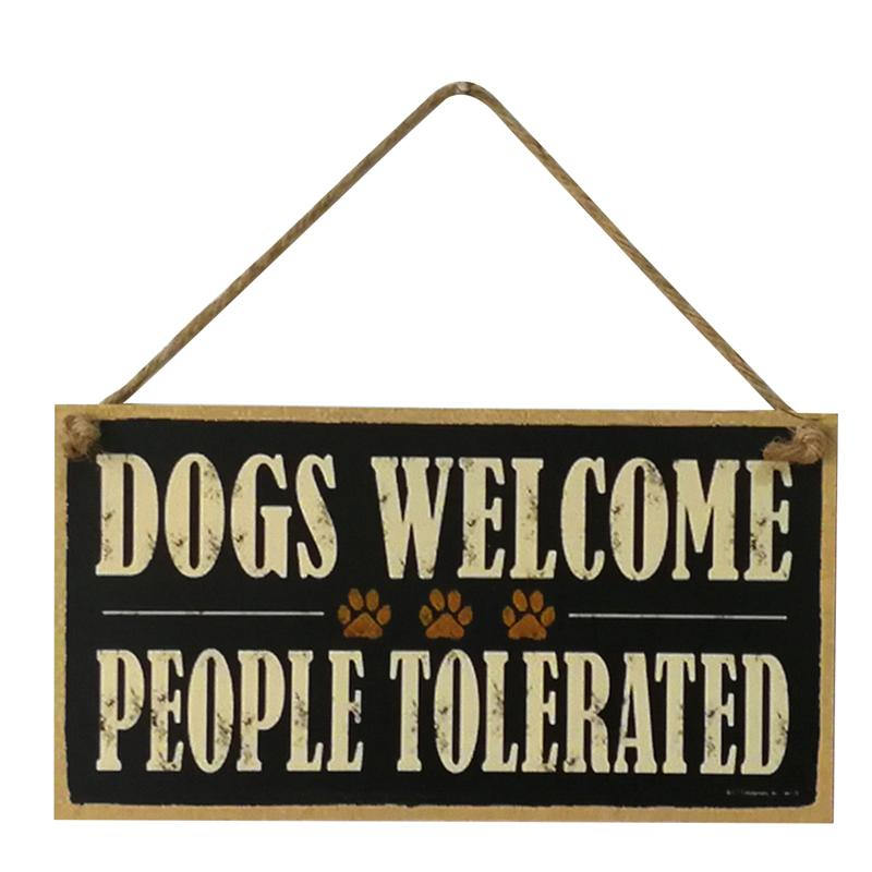 Dogs Welcome Hanging SIgn