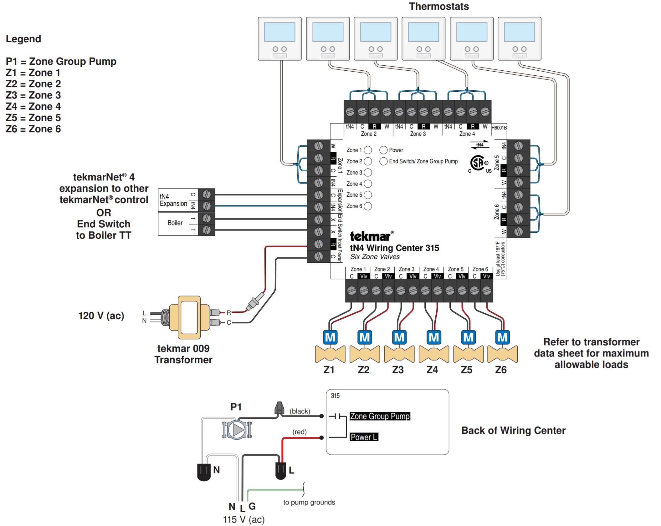 TEKMAR 315 WIRING DIAGRAM